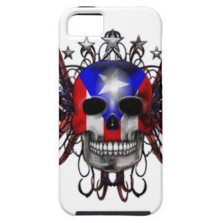 プエルトリコの旗-スカル iPhone SE/5/5s ケース