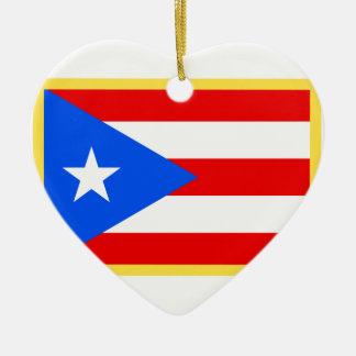 プエルトリコの旗 セラミックオーナメント