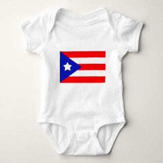 プエルトリコの旗 ベビーボディスーツ