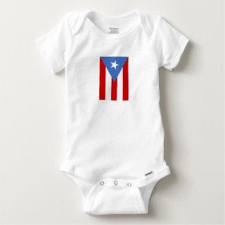 プエルトリコの旗 ベビーワンシー