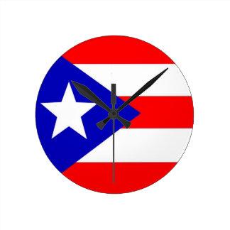 プエルトリコの旗 ラウンド壁時計