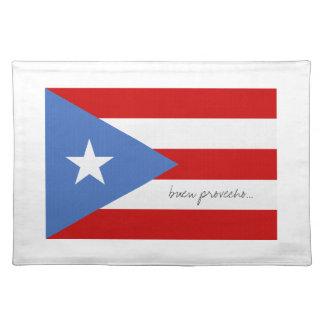 プエルトリコの旗 ランチョンマット