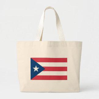 プエルトリコの旗 ラージトートバッグ