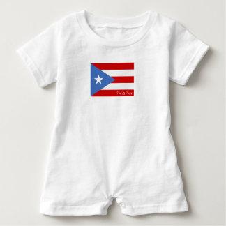 プエルトリコの旗: 愛国心が強い ベビーロンパース