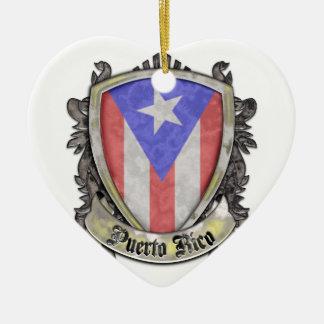 プエルトリコの旗-盾の頂上 セラミックオーナメント