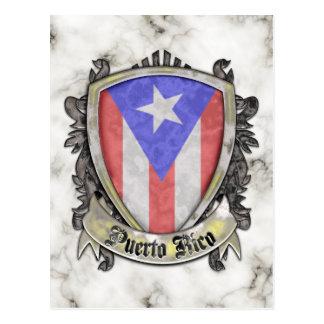 プエルトリコの旗-盾の頂上 ポストカード