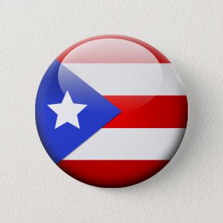 プエルトリコの旗 5.7CM 丸型バッジ