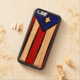 プエルトリコの旗 CarvedチェリーiPhone 6バンパーケース
