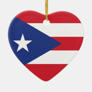 プエルトリコの明白な旗 セラミックオーナメント