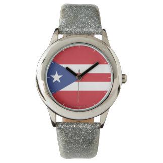プエルトリコの明白な旗 腕時計