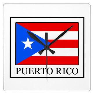 プエルトリコの柱時計 スクエア壁時計