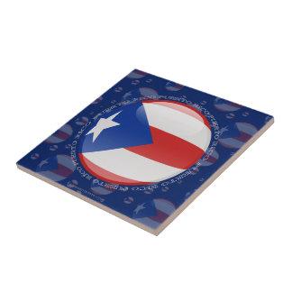 プエルトリコの泡旗 タイル
