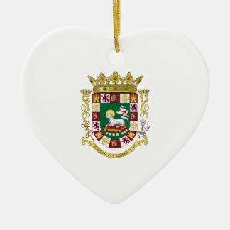 プエルトリコの紋章付き外衣 セラミックオーナメント