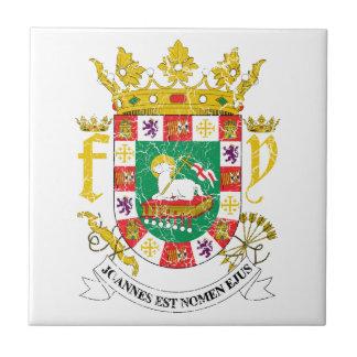 プエルトリコの紋章付き外衣 タイル