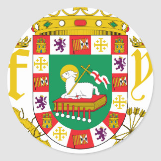 プエルトリコの紋章付き外衣 ラウンドシール