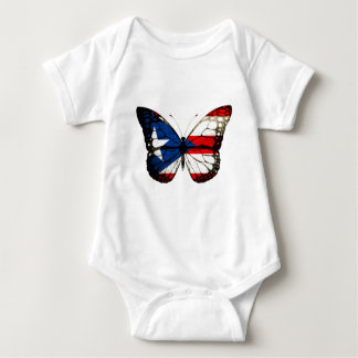 プエルトリコの蝶 ベビーボディスーツ