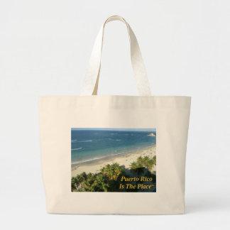 プエルトリコは場所です ラージトートバッグ