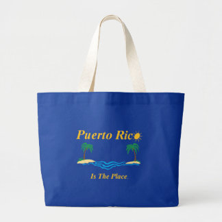 プエルトリコは場所のジャンボトートです ラージトートバッグ