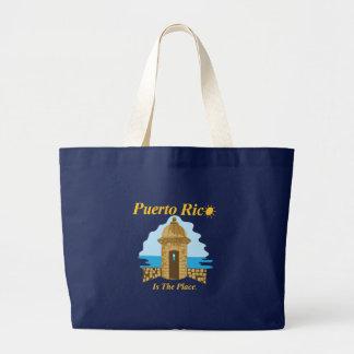 プエルトリコは場所のバッグです ラージトートバッグ