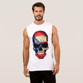 プエルトリコ人のBoricuaのスカルの倍はTシャツ味方しました 袖なしシャツ