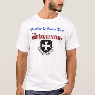 プエルトリコ人のBorinqueneersの誇りを持ったなTシャツ Tシャツ