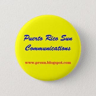 プエルトリコ日曜日コミュニケーション 5.7CM 丸型バッジ