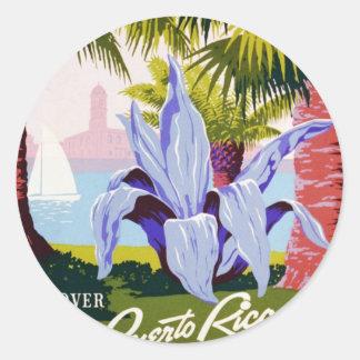 プエルトリコ米国、WPAの観光事業および公園ポスター ラウンドシール