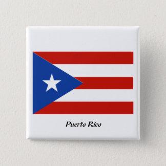 プエルトリコ2インチの正方形ボタン 缶バッジ