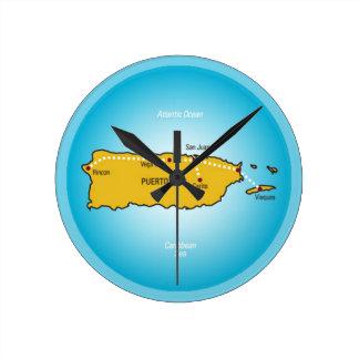 プエルトリコ ラウンド壁時計