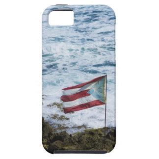 プエルトリコ、古いサンファンのプエルトの米の旗 iPhone SE/5/5s ケース