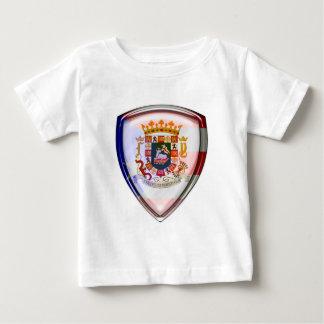 プエルトリコ-盾のシール ベビーTシャツ