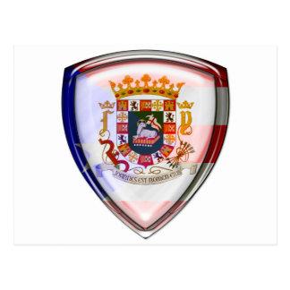 プエルトリコ-盾のシール ポストカード