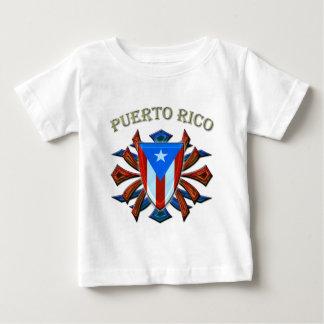 プエルトリコ-盾 ベビーTシャツ