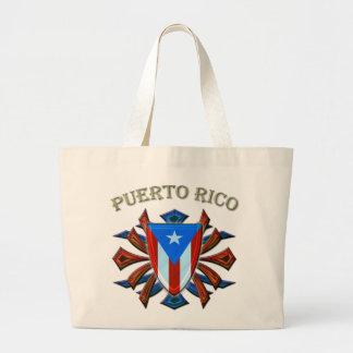 プエルトリコ-盾 ラージトートバッグ