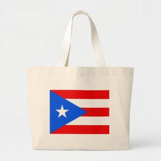 プエルトリコ-米国の旗が付いているバッグ ラージトートバッグ