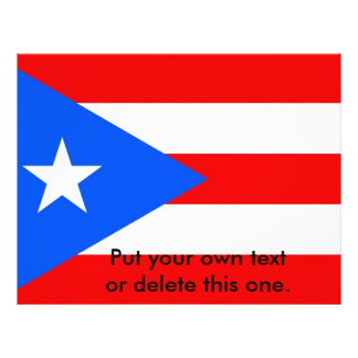 プエルトリコ、米国の旗が付いているフライヤ チラシ