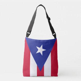 プエルトリコ- Bandera deプエルトリコの旗 クロスボディバッグ