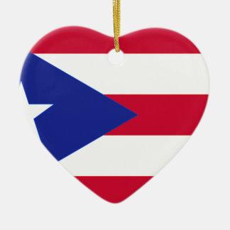 プエルトリコ- Bandera deプエルトリコの旗 セラミックオーナメント