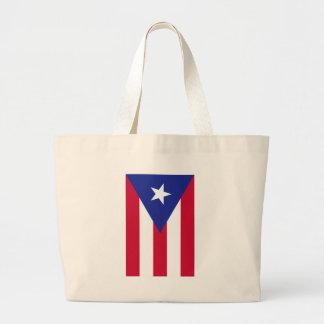 プエルトリコ- Bandera deプエルトリコの旗 ラージトートバッグ