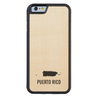 プエルトリコ CarvedメープルiPhone 6バンパーケース