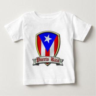 プエルトリコ- Shield2 ベビーTシャツ