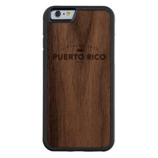 プエルトリコIsla del Encanto CarvedウォルナッツiPhone 6バンパーケース
