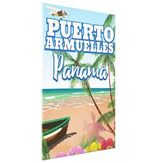 プエルトArmuellesパナマの休暇旅行ポスター キャンバスプリント