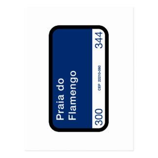 プライアはFlamengo、リオデジャネイロの通りをします ポストカード