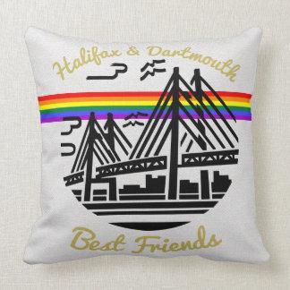 プライドのハリファックスダートマスの友人の虹の枕 クッション