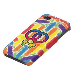 プライドのレズビアンの虹の箱 iPhone 4 COVER