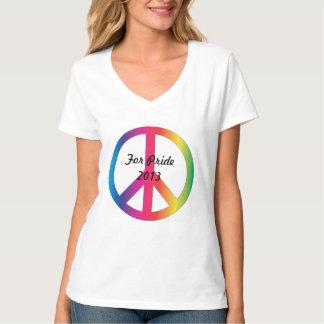 プライドの女性のための平和 Tシャツ