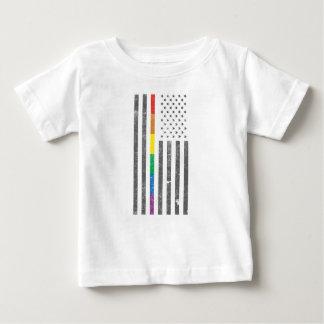 プライドの旗のベビーのジャージーのアメリカのTシャツ ベビーTシャツ