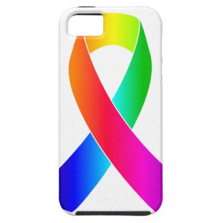 プライドの認識度の虹のリボンのギフト iPhone SE/5/5s ケース