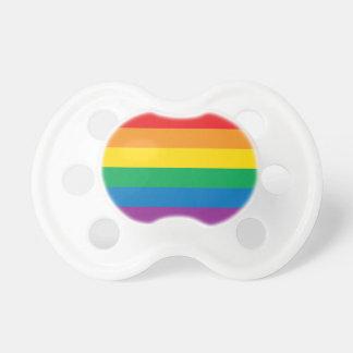 プライド|のカラフルな虹のデザイン おしゃぶり